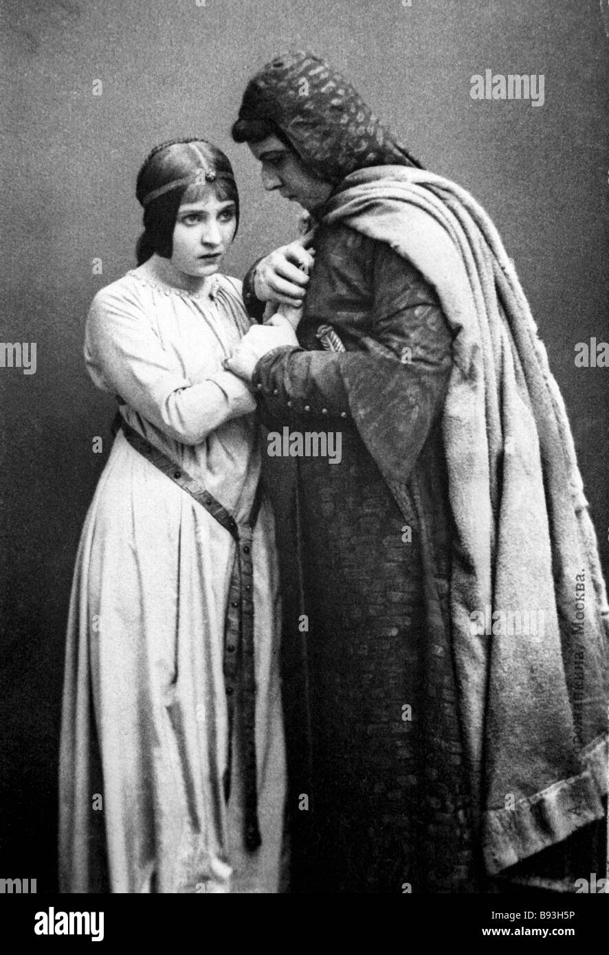 Hamlet by William Shakespeare performed in the Moscow Art Theater 1912 The play was Staged by the English director - Stock Image