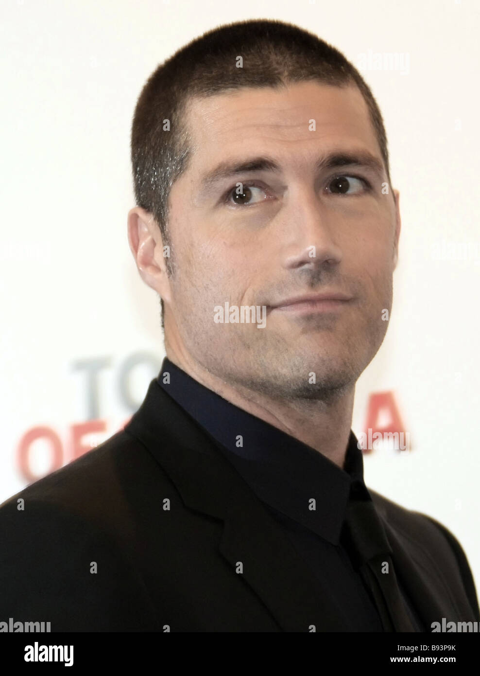 Anticipating the upcoming show of the movie Vantage Point in Russian cinemas film star Matthew Fox attend news conference - Stock Image