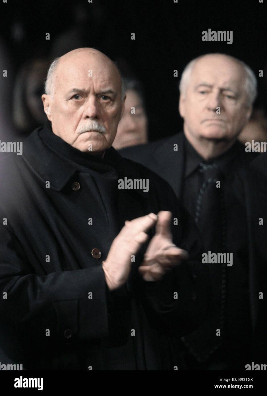 Film director Stanislav Govorukhin and Mark Zakharov
