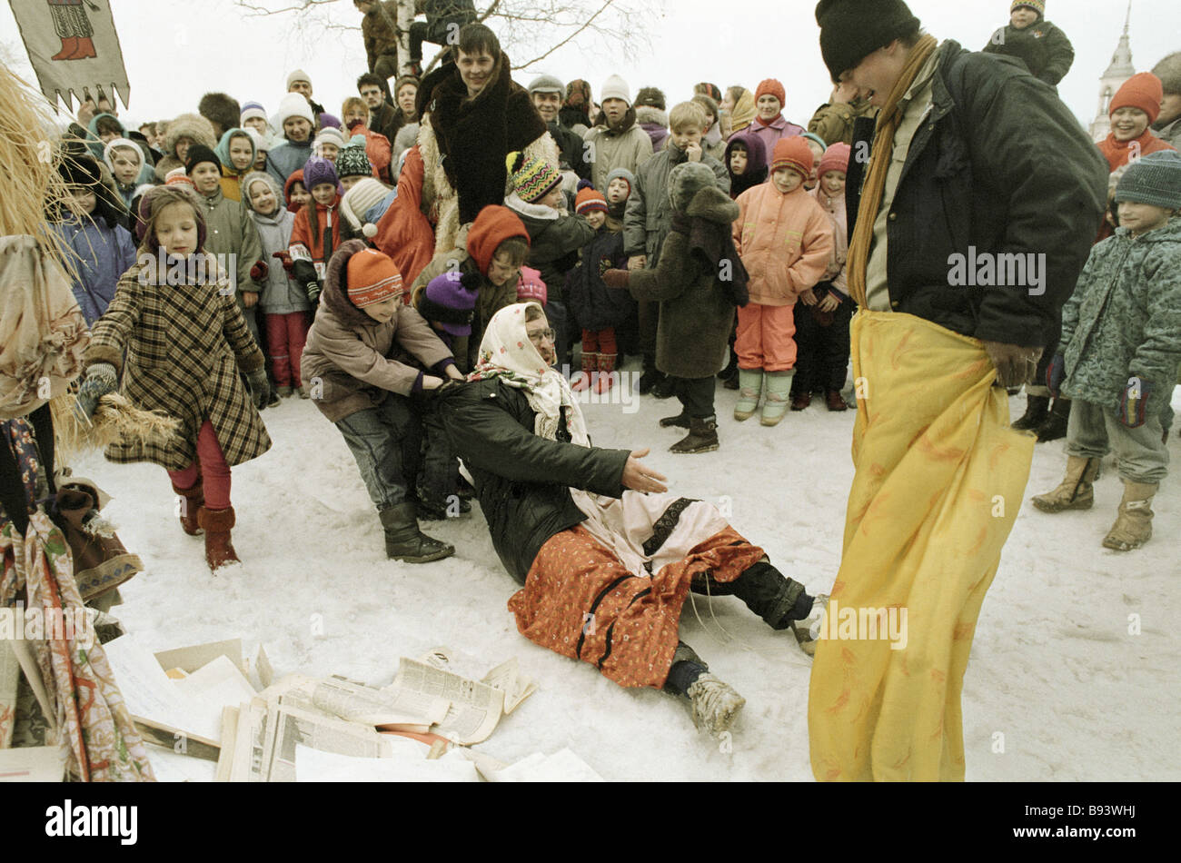 Mardi gras festivities in the Vologda Region - Stock Image