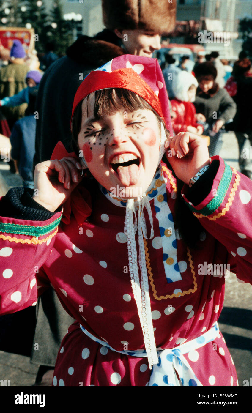 Mardi Gras festivities in Kemerovo - Stock Image