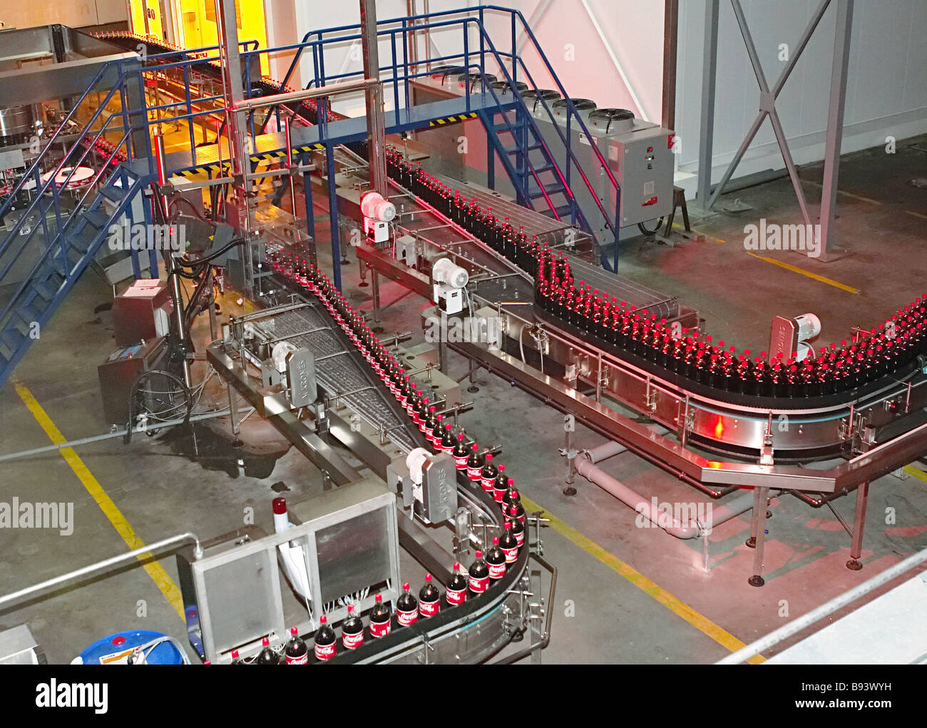 The 3rd line with capacity of more than 200 million liters a year is launched at the Coca Cola plant in St Petersburg - Stock Image