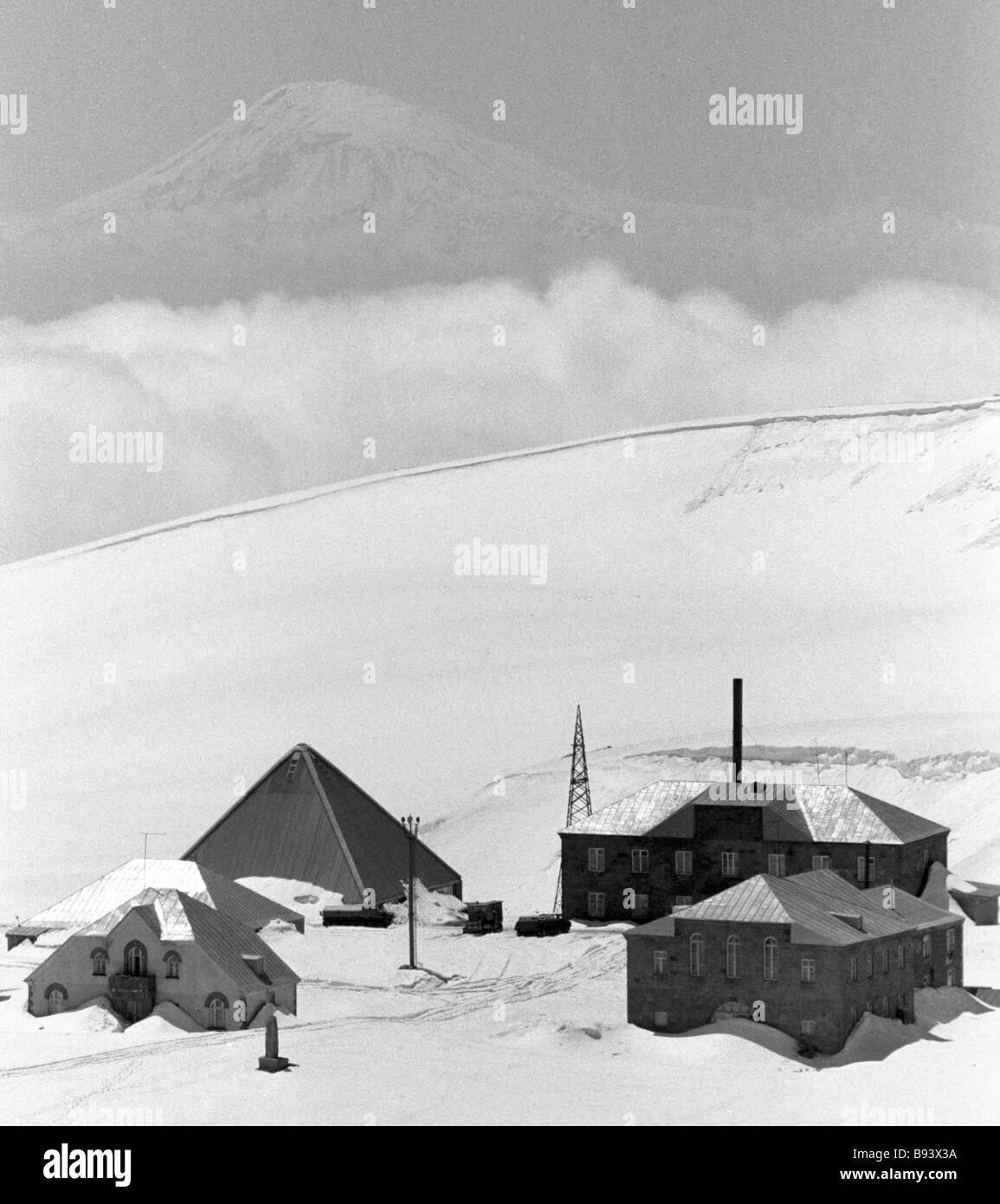 The Aragats cosmic ray station in the mountains Armenia - Stock Image