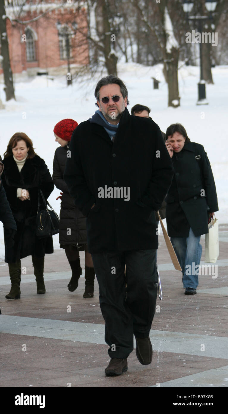 Writer and playwright Sean Hepburn Ferrer the son of the legendary actress Audrey Hepburn having a walk around the - Stock Image