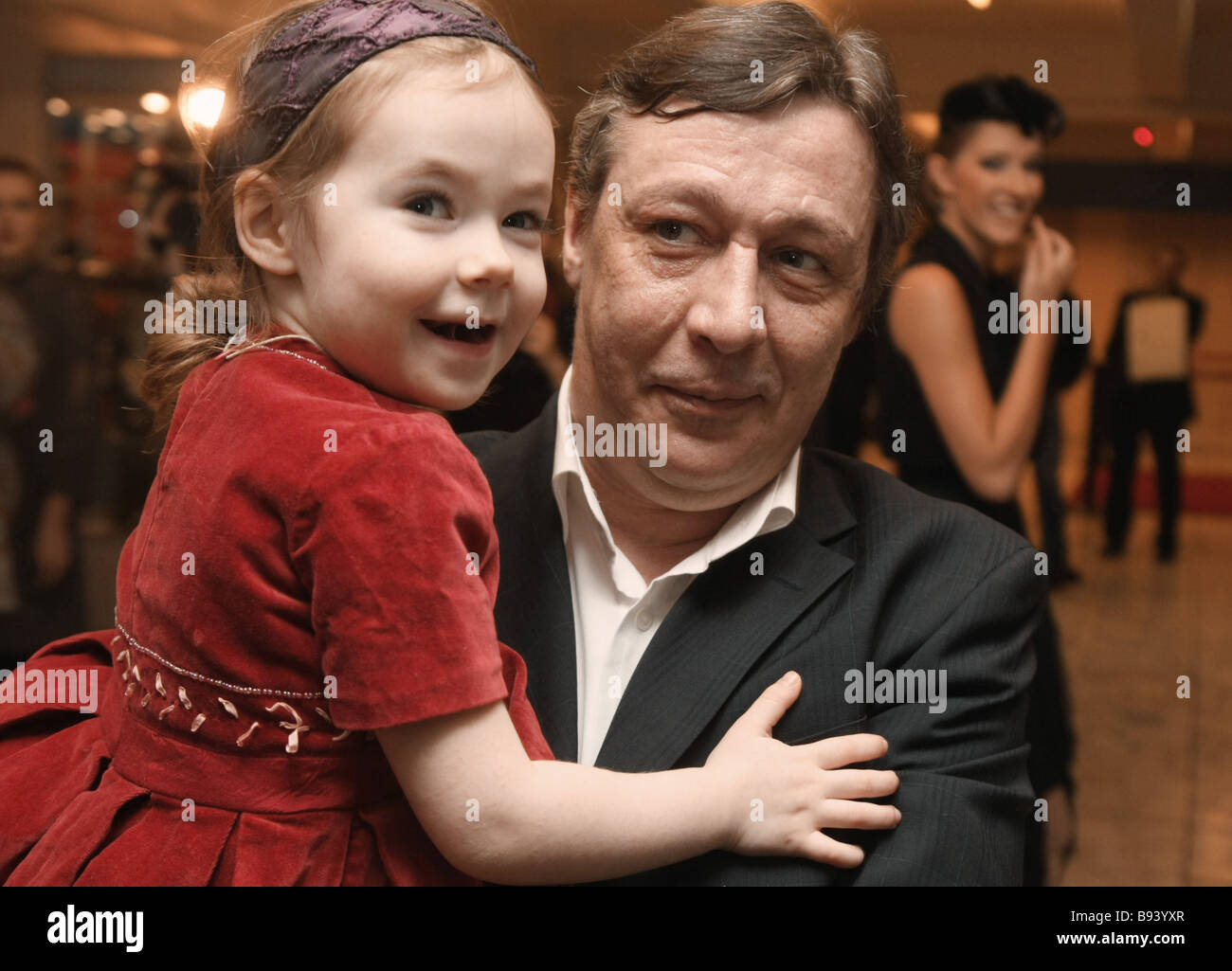 Actor Mikhail Yefremov the winner of the Golden Eagle award in the man s best role nomination - Stock Image