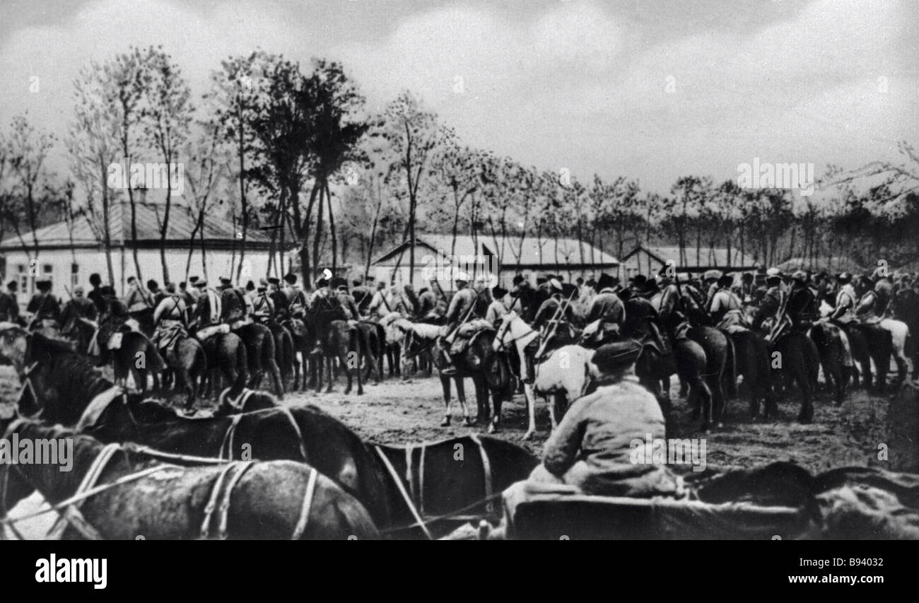 The cavalry corps at Voronezh - Stock Image