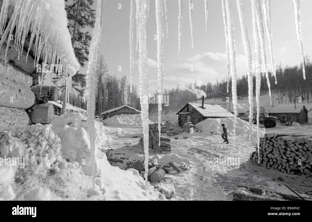 Prospectors settlement - Stock Image