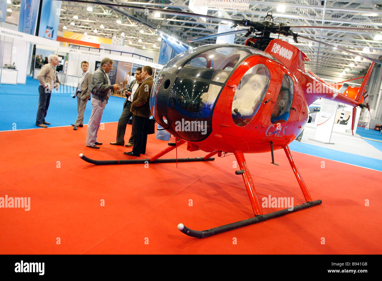 A helicopter MD 500 at the 2nd International Business Aviation Exhibition Jet Expo 2007 Crocus Expo - Stock Image