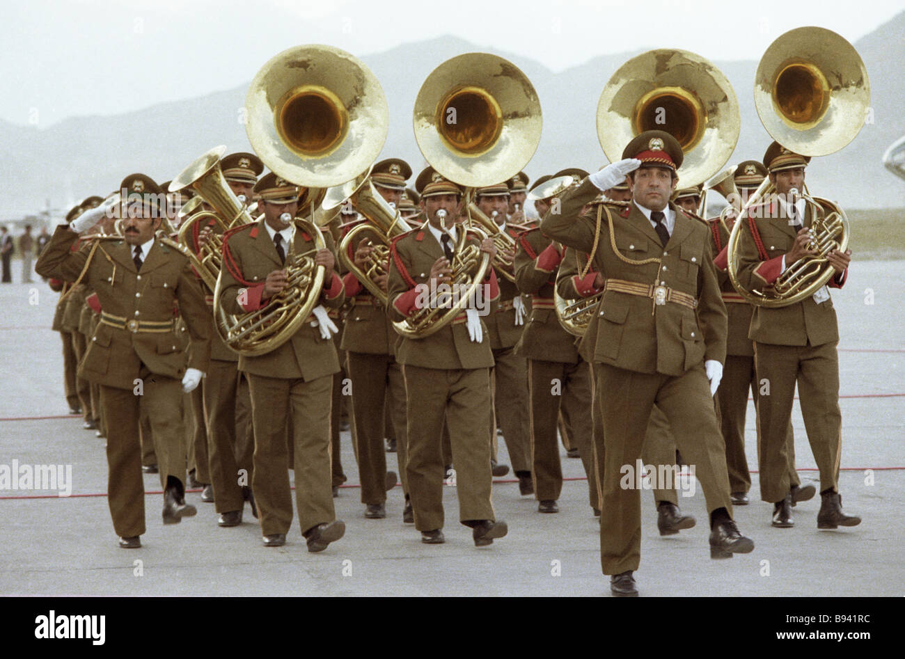 Orchestra of the guard of honor - Stock Image