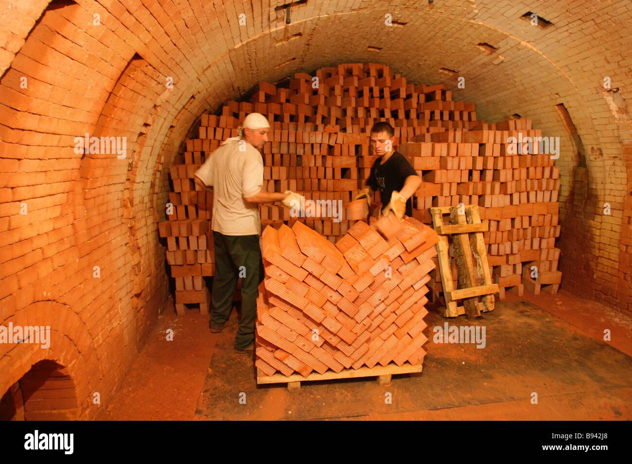 Finished goods Belostolbovsky brickyards - Stock Image