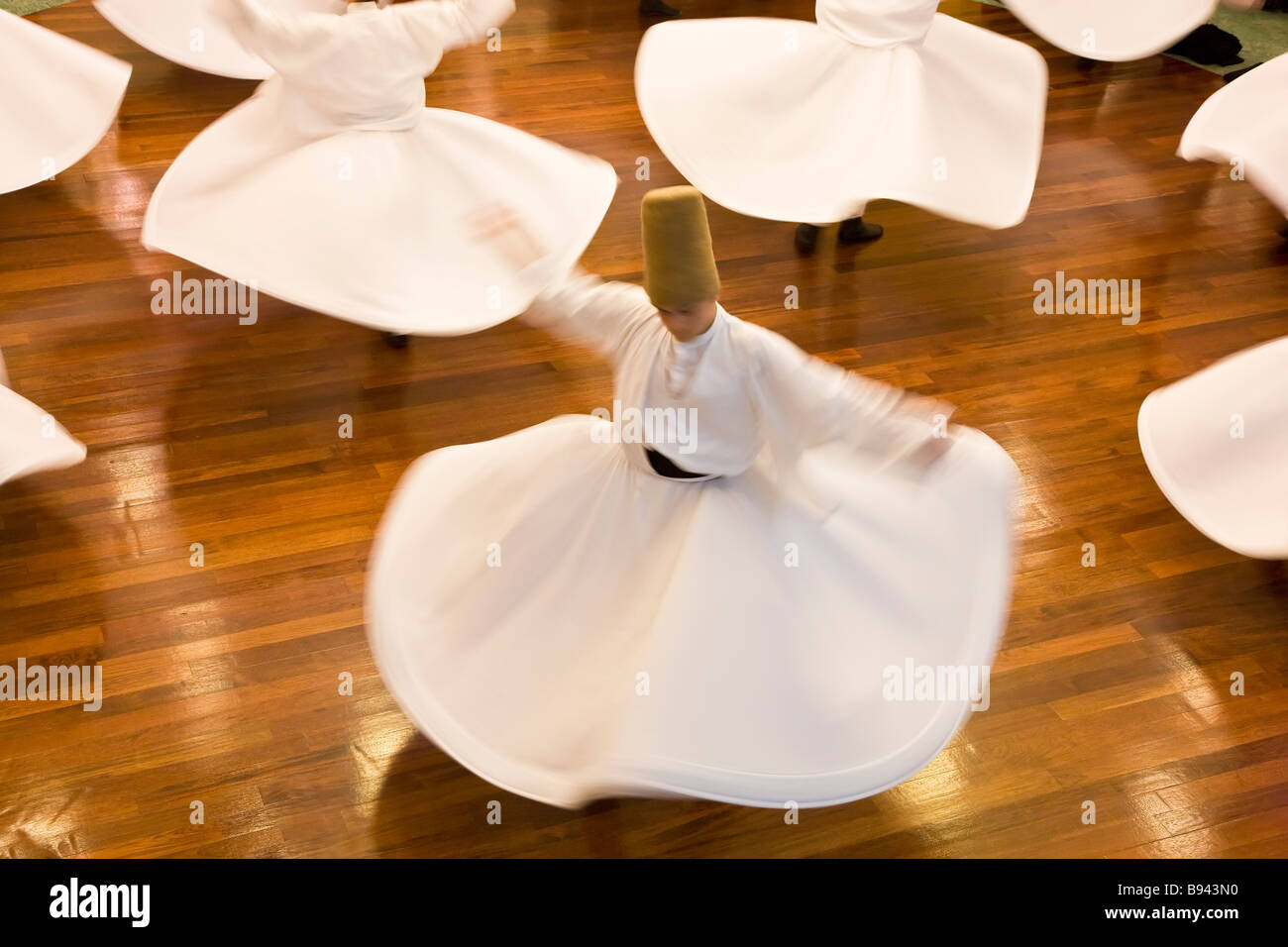 Whirling Dervishes Istanbul Turkey - Stock Image