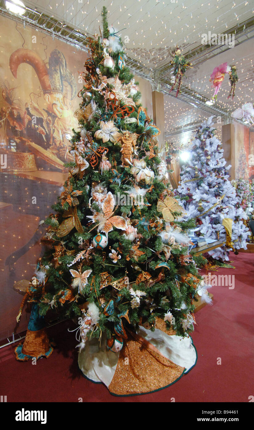 christmas trees for sale in a moscow store costing 80 000 rubles 3 200 and up