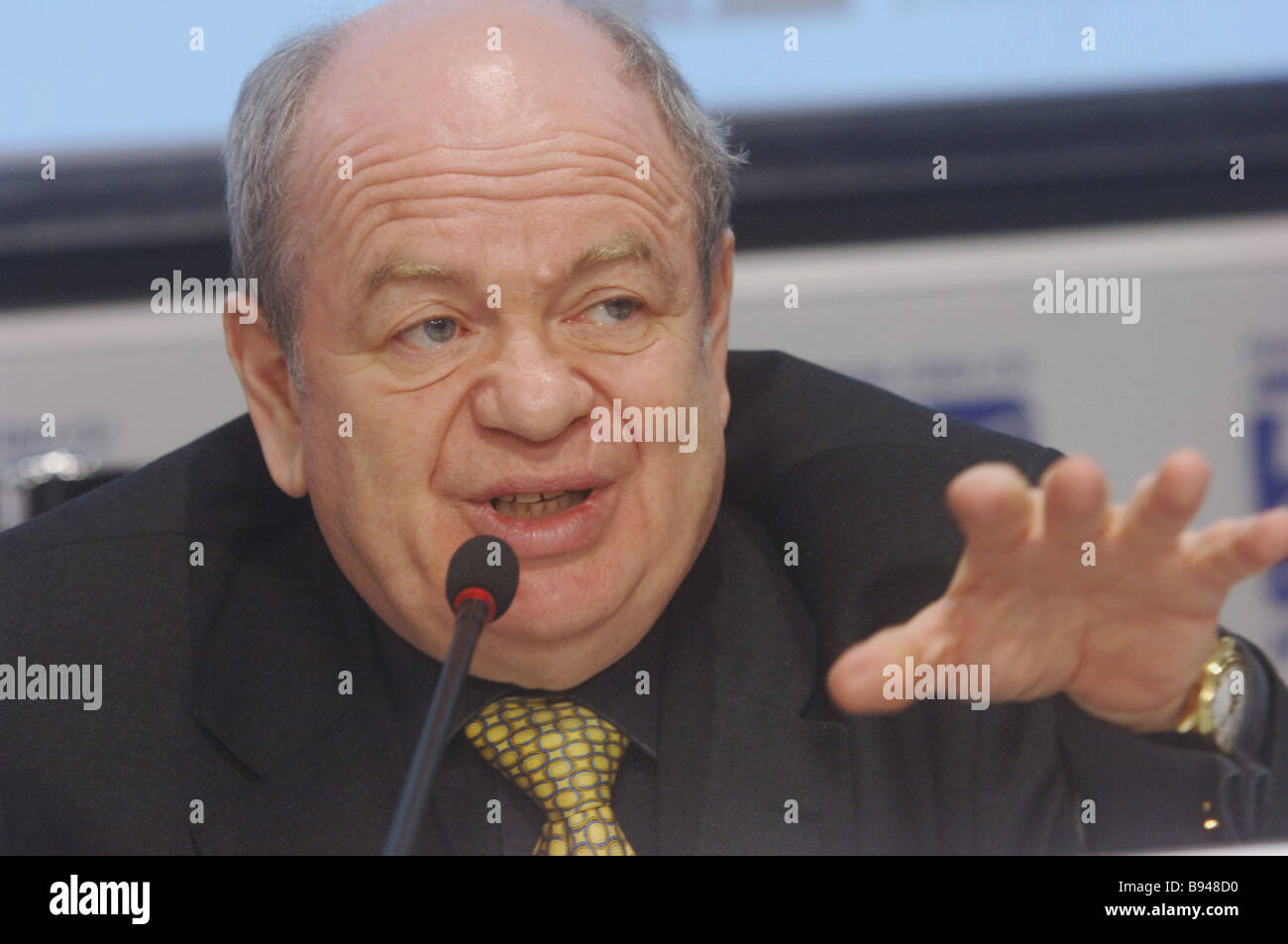 Grigory Tomchin President of the All Russian Association of Privatized and Private Enterprises Employers and Member - Stock Image