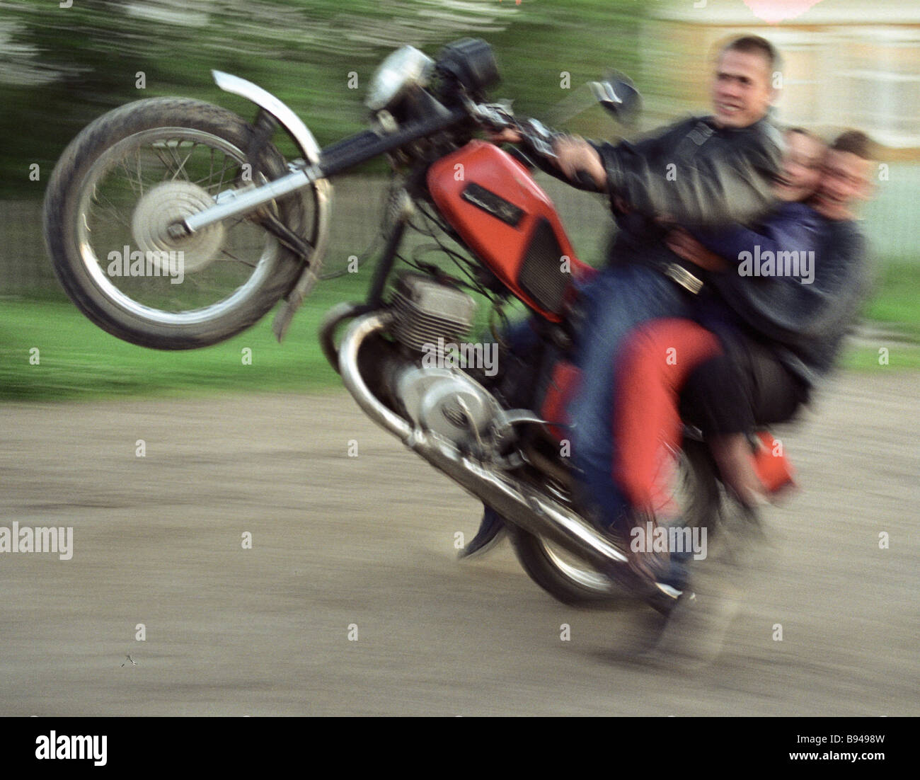 Village bikers - Stock Image