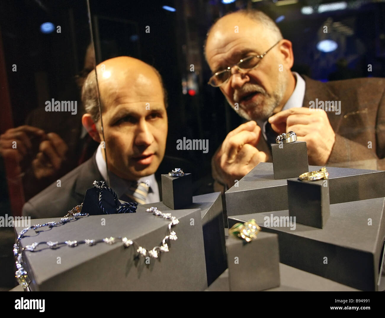 Best Diamond Jewel contest hosted by ALROSA on the sidelines of Diamond City - Stock Image