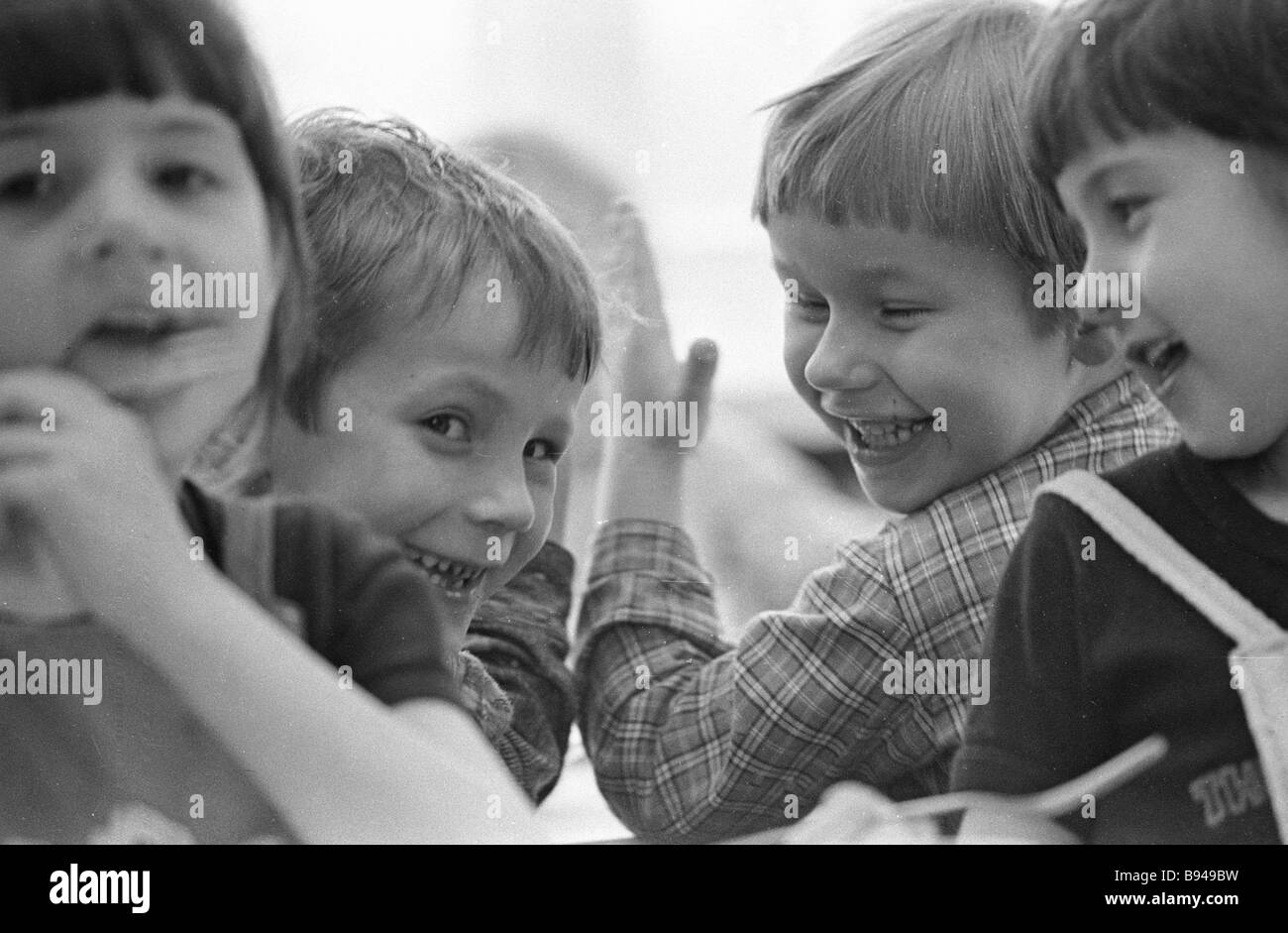 Minsk kindergarten charges - Stock Image