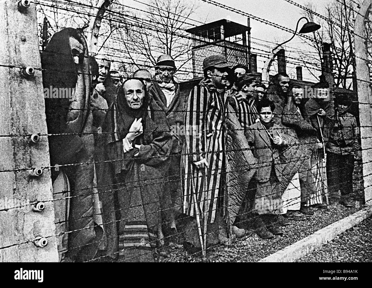 The martyrs of Auschwitz Boris Borisov s photo from the series Humanity Will Not Forgive and Forget It Exhibited - Stock Image