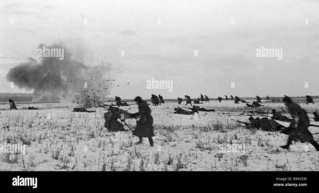 Battles for the liberation of Rostov - Stock Image
