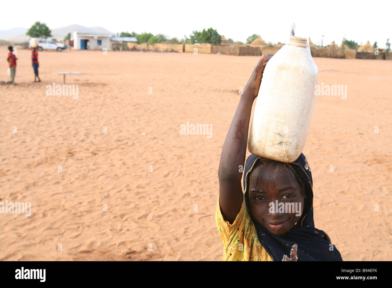 A young Sudanese refugee from The Darfur Region pictured in a refugee camp in neighbouring in Goz Beida, Eastern - Stock Image
