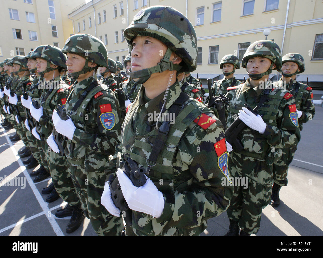 Special force 13th briugade of the Chinese armed police force s Beijing division attending joint anti terrorist Stock Photo