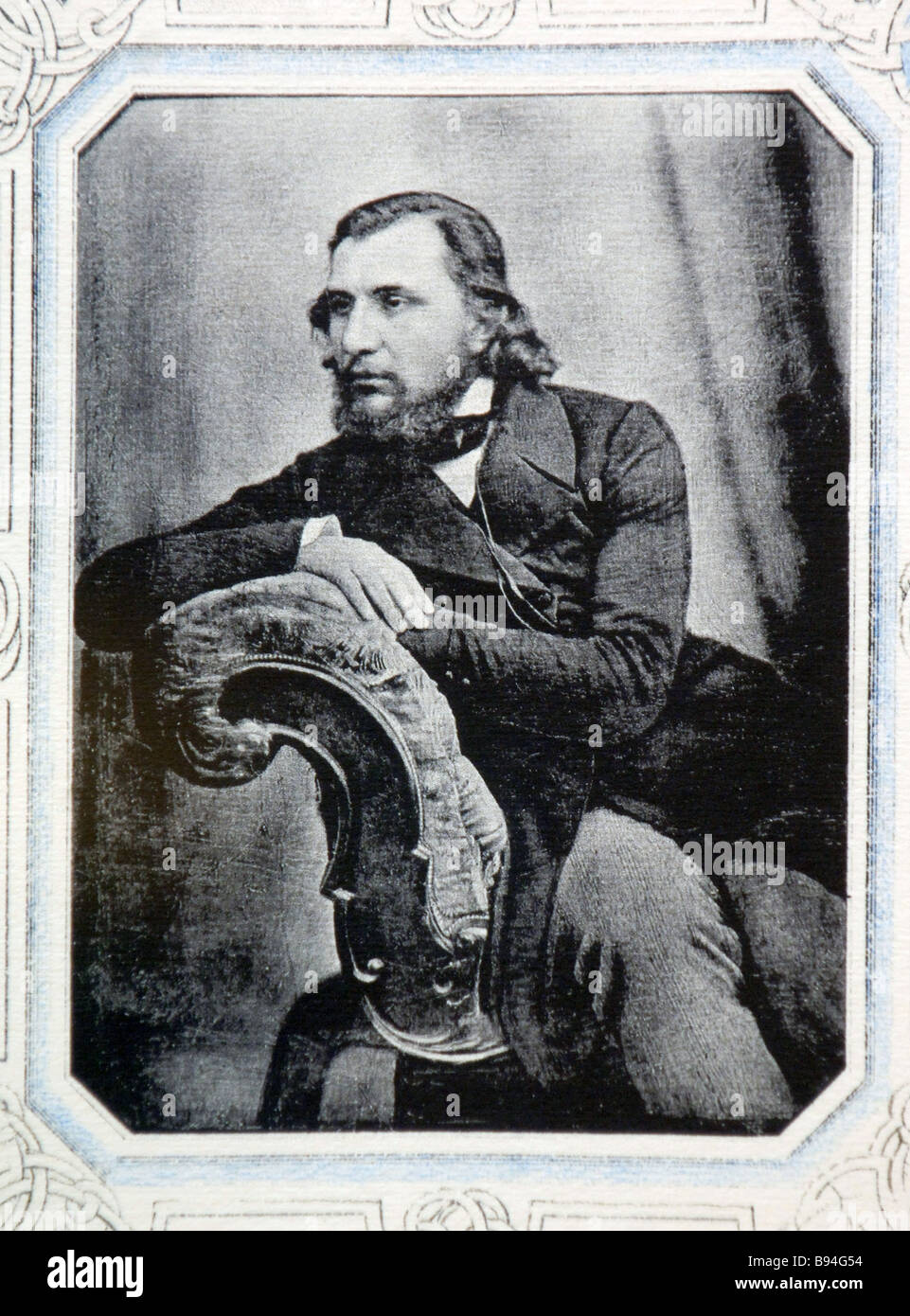 A reproduction of a daguerrotype showing Ivan Turgenev in 1840 Turgenev Library - Stock Image