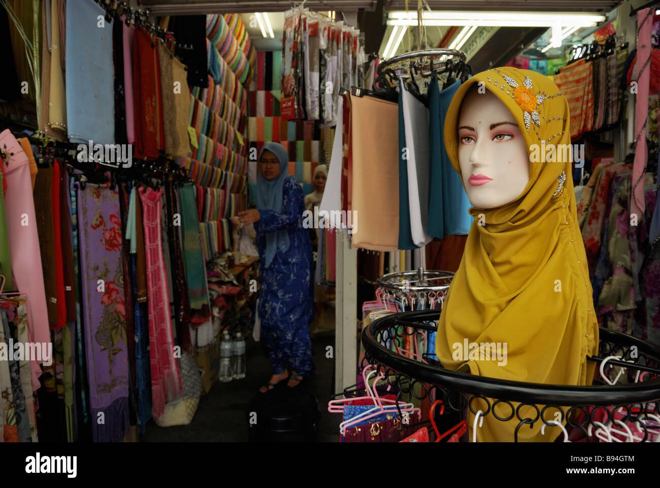 41906bdb7f An indian clothes shop in Little India, Kuala Lumpur, Malaysia. - Stock  Image