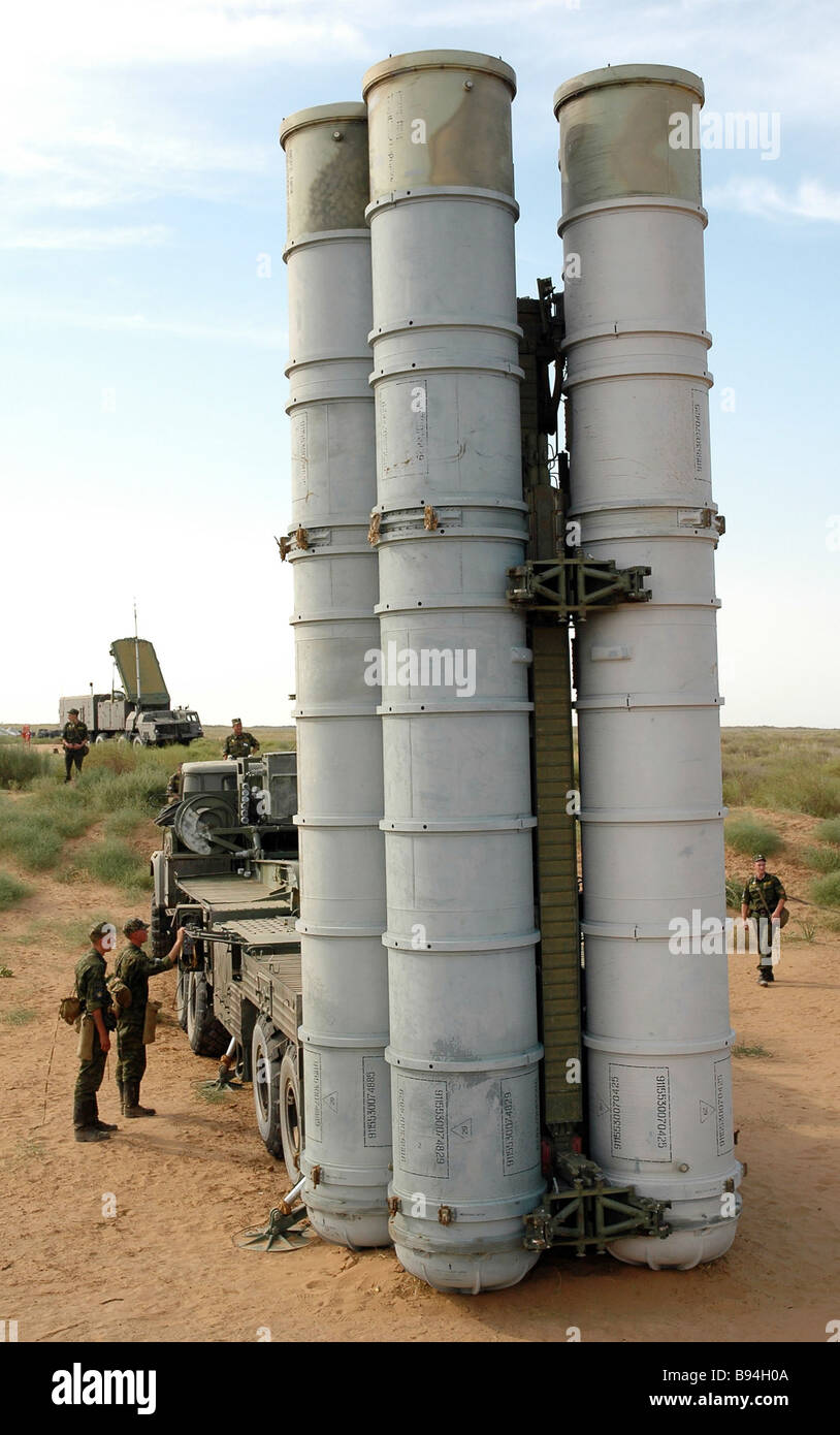 An S 300 surface to air missile system SAM Stock Photo