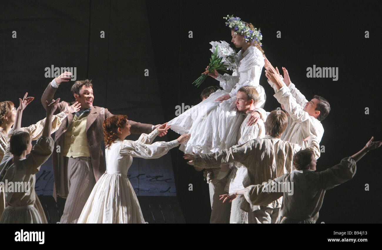 Showcase of Tom Stoppard s The Coast of Utopia to be premiered in Moscow s Russian Youth Theater on October 6 Stock Photo