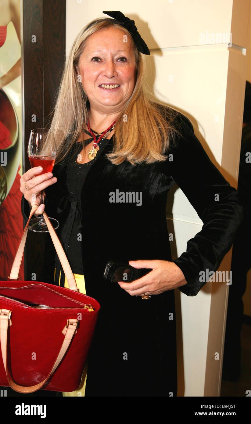 The glamorous jeweler s Carrera y Carrera opened a boutique at Moscow s Ritz Carlton Tatyana Mikhalkova philanthropist - Stock Image