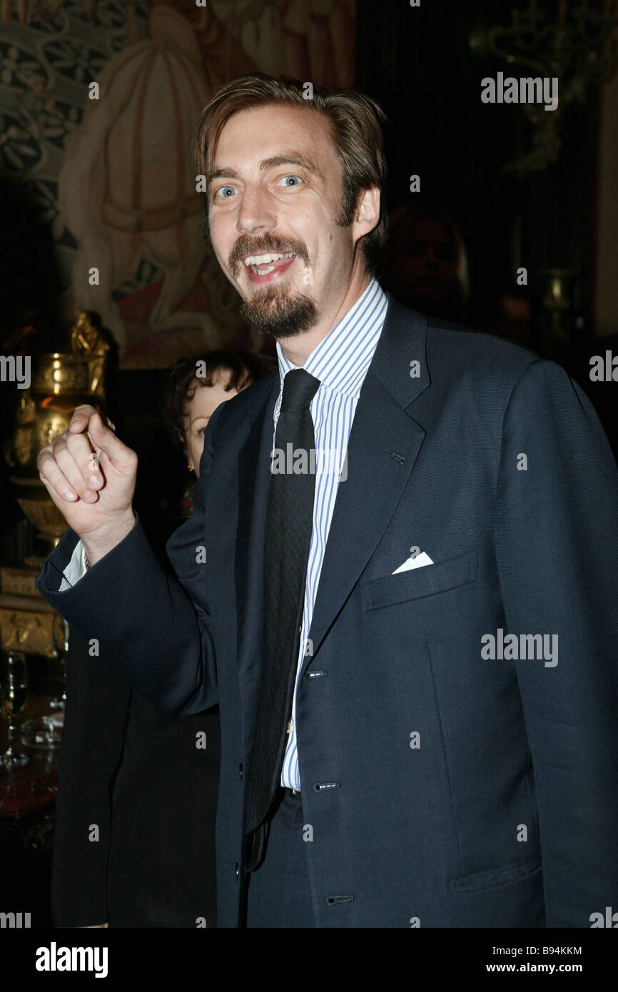 Actor and director Antoine Wagner during a reception at the Italian ambassador s residence - Stock Image