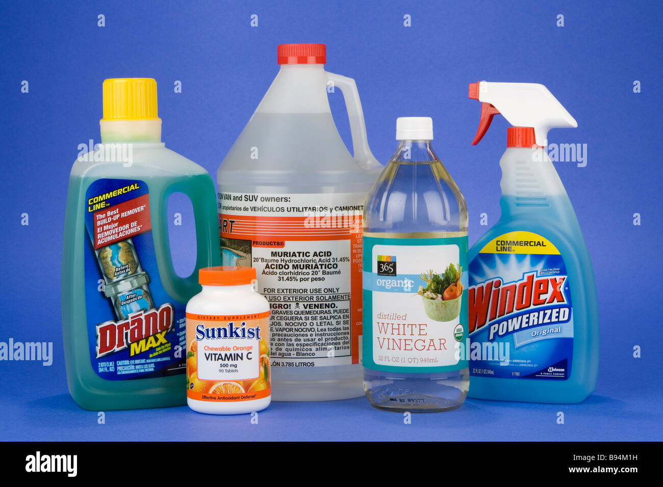 common household acids and bases drano vitamin c muriatic acid