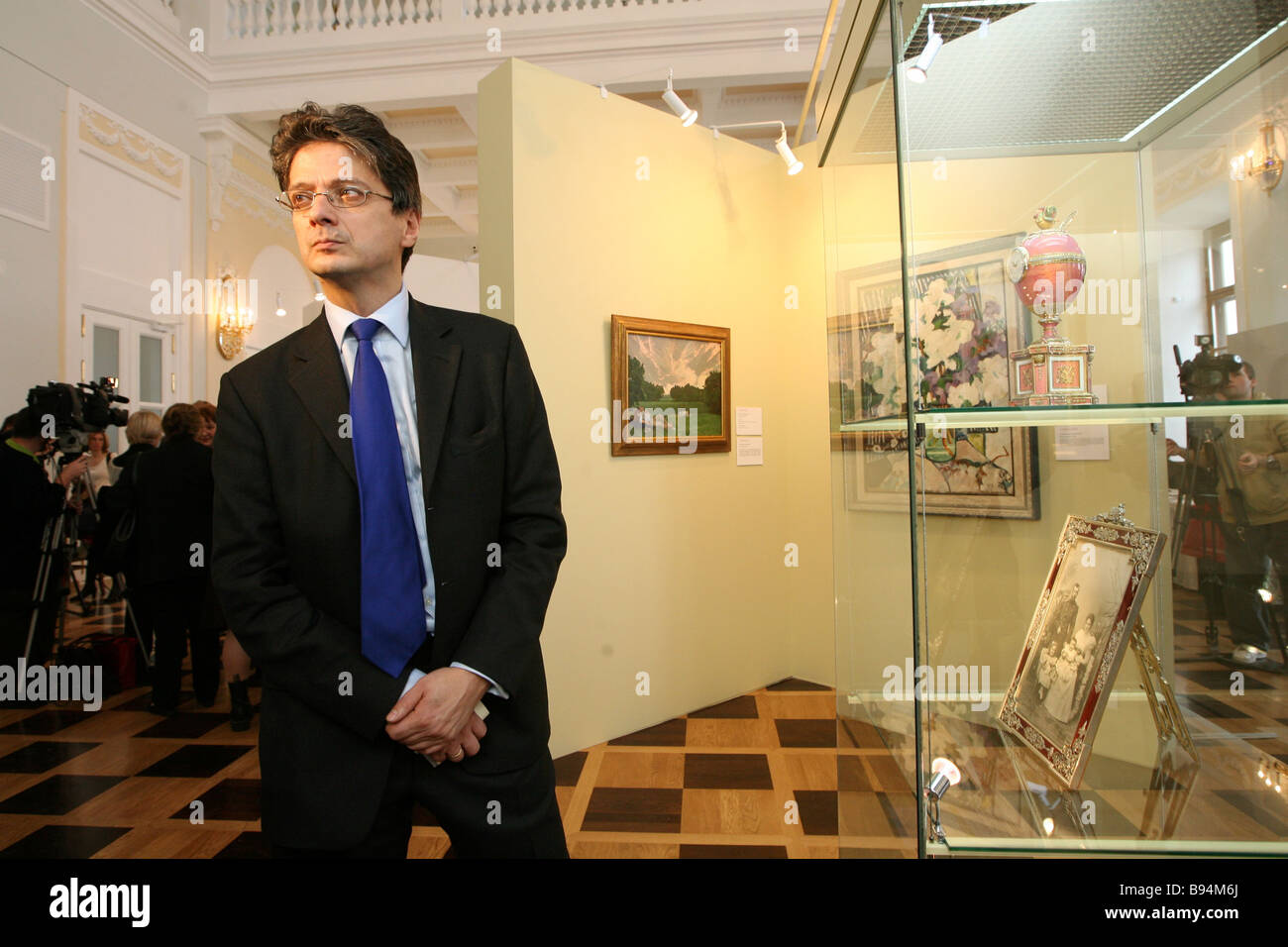 Christie s Vice President Alexis de Tiesenhausen head of the Russian art department at the auction house attending - Stock Image