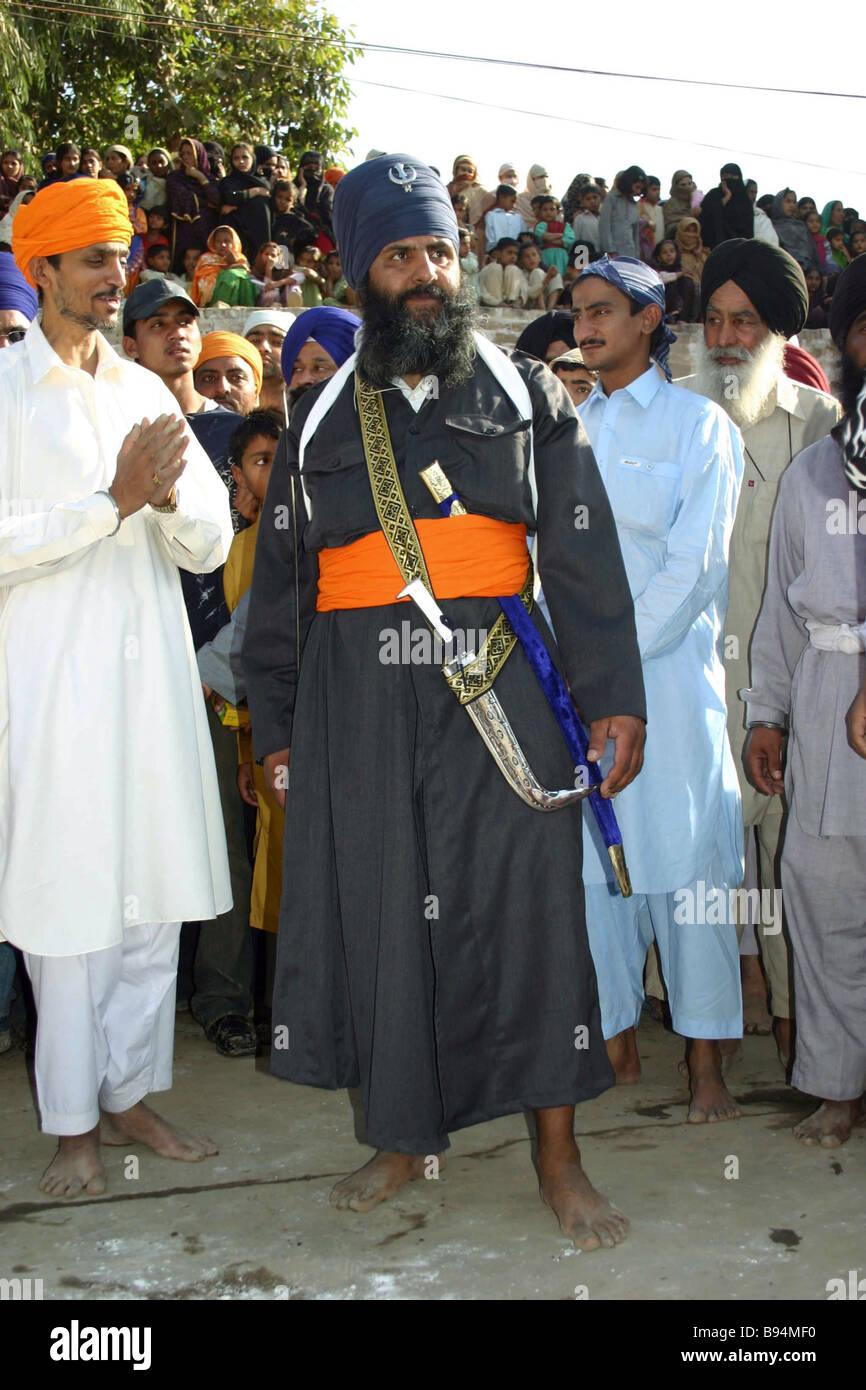 The Sikh holiday marked on the birthday of Guru Nanaka founder of the religion Pakistan - Stock Image
