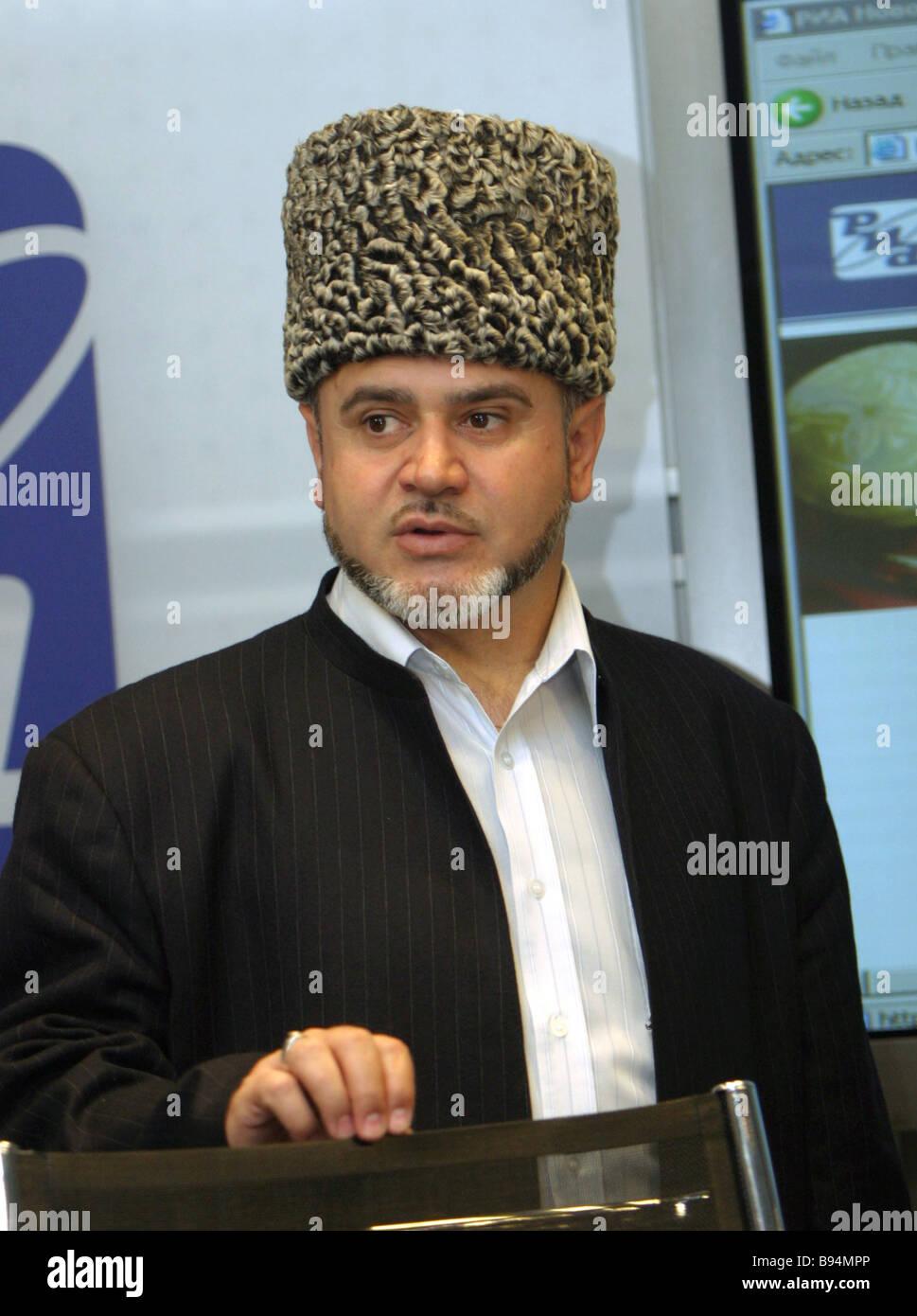 Mufti Shafig haji Pshikhachev Al Hak all Russia league Supreme Council member International Islamic Mission Executive - Stock Image