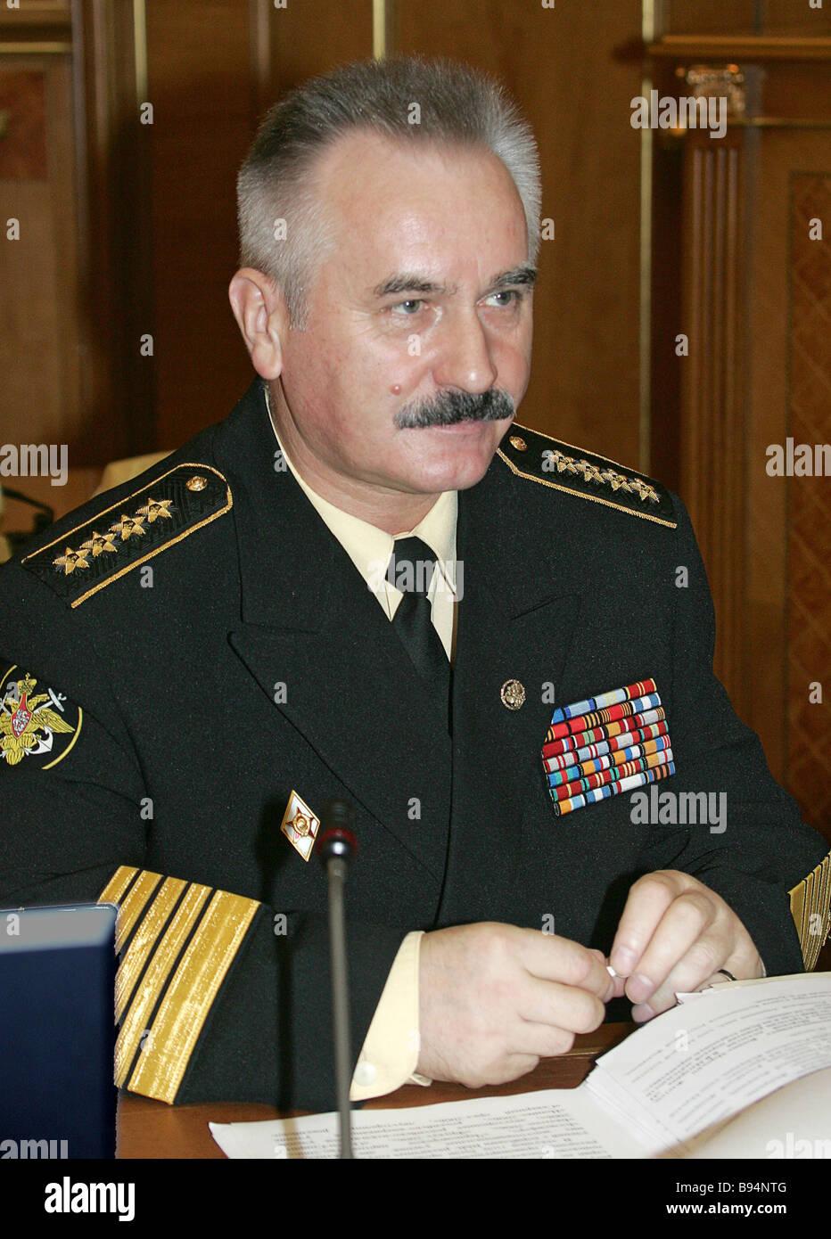 Fleet Admiral Vladimir Masorin Commander In Chief Of The Russian Navy Attends Maritime Collegium Session At