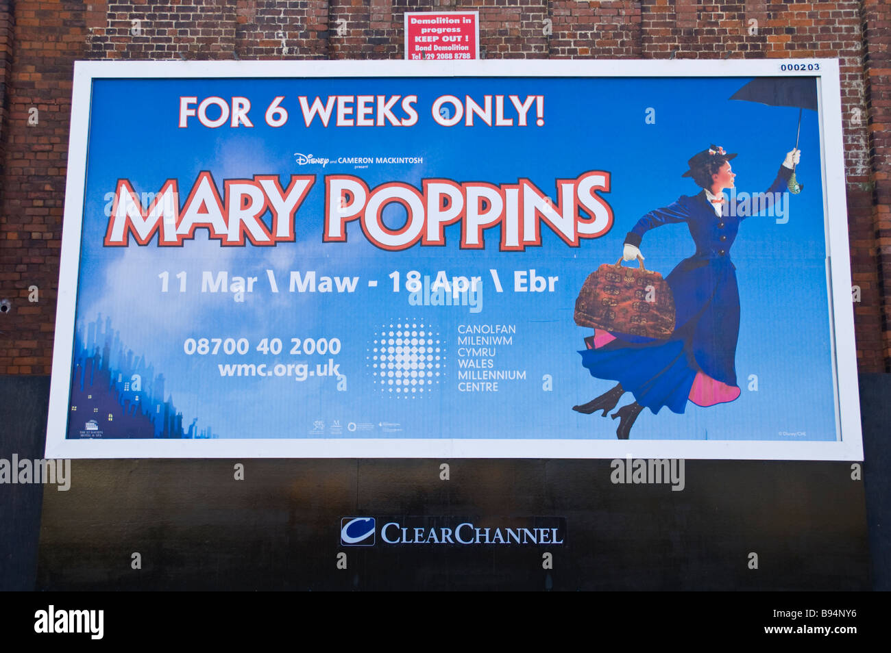 Bilingual English & Welsh advertising billboard for Mary