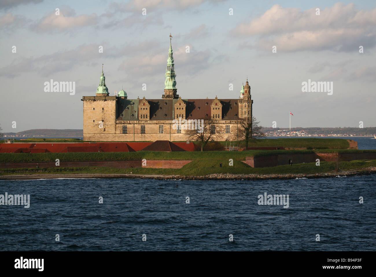 Kronborg Castle, Elsinore. Denmark. Europe. - Stock Image