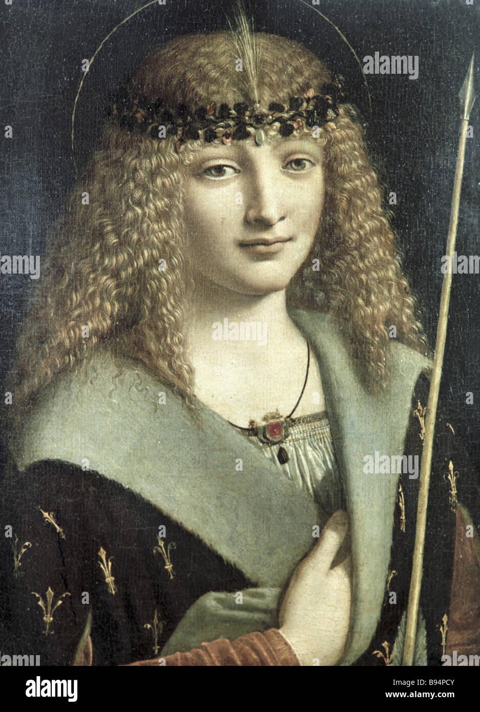 Giovanni Antonio Boltraffio s St Sebastian Alexander Pushkin Museum of Fine Arts - Stock Image