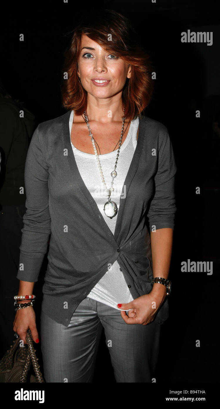 Singer Zhanna Friske during a charity evening in the GQ Bar Moscow - Stock Image