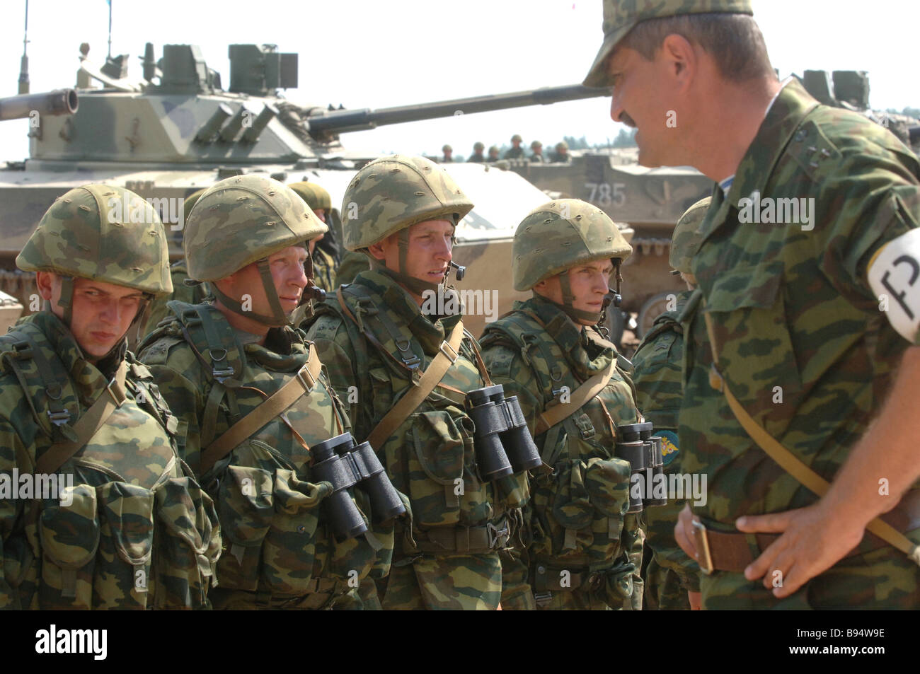 At the command and staff exercise involving 31st Guards Separate Airborne Brigade in Ryazan Region - Stock Image
