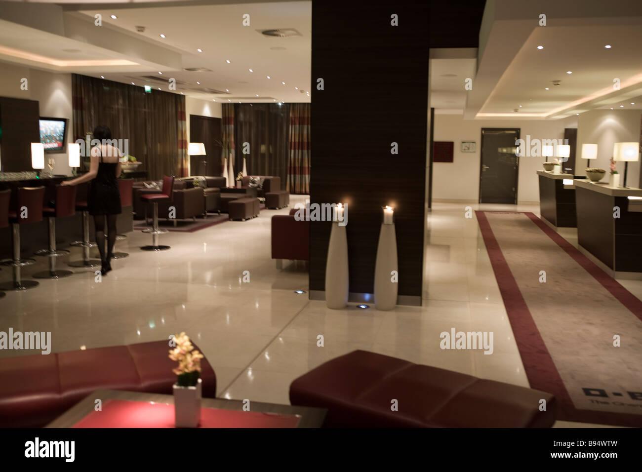 Hotel Lobby - Stock Image