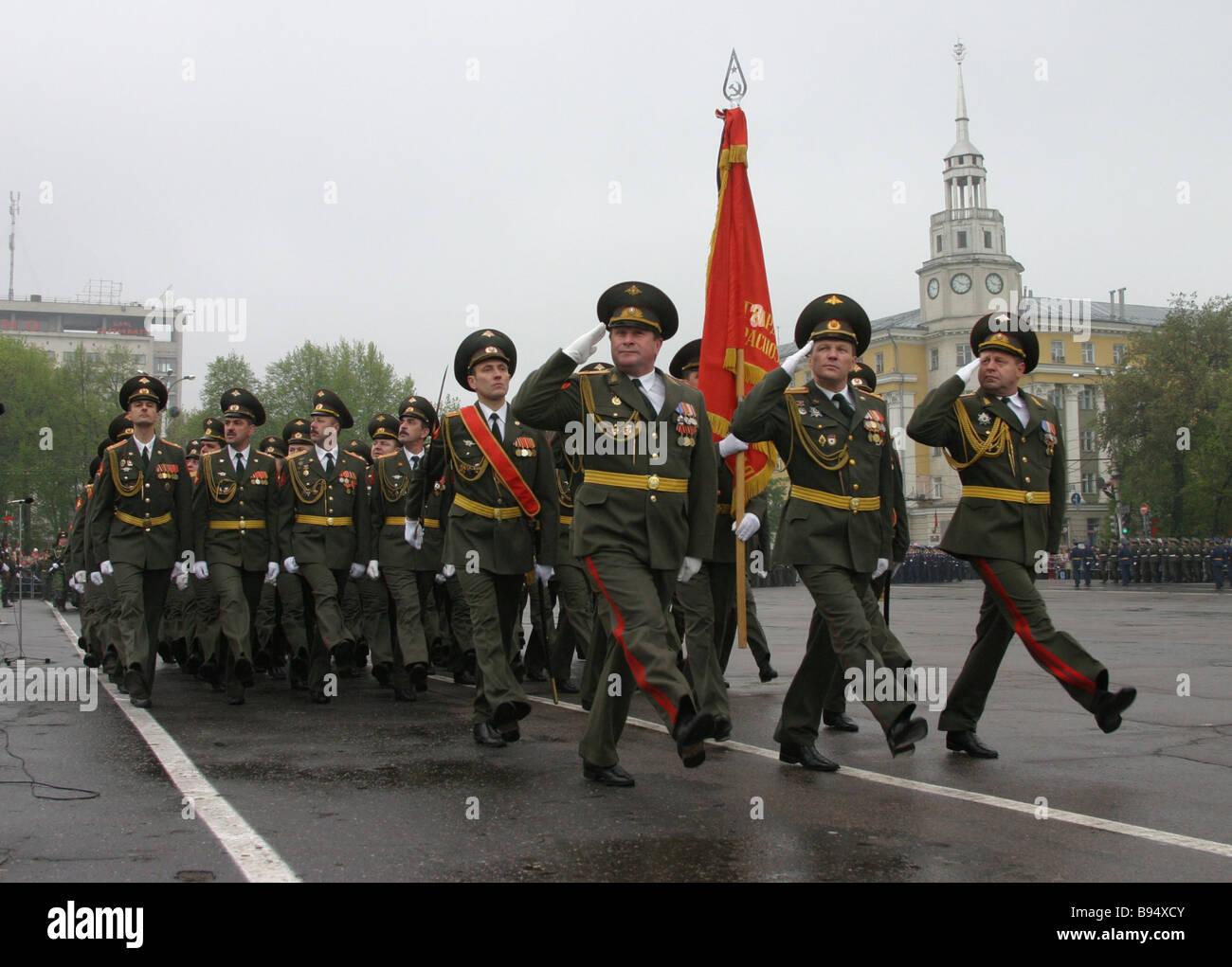 Voronezh celebrates V E anniversary - Stock Image