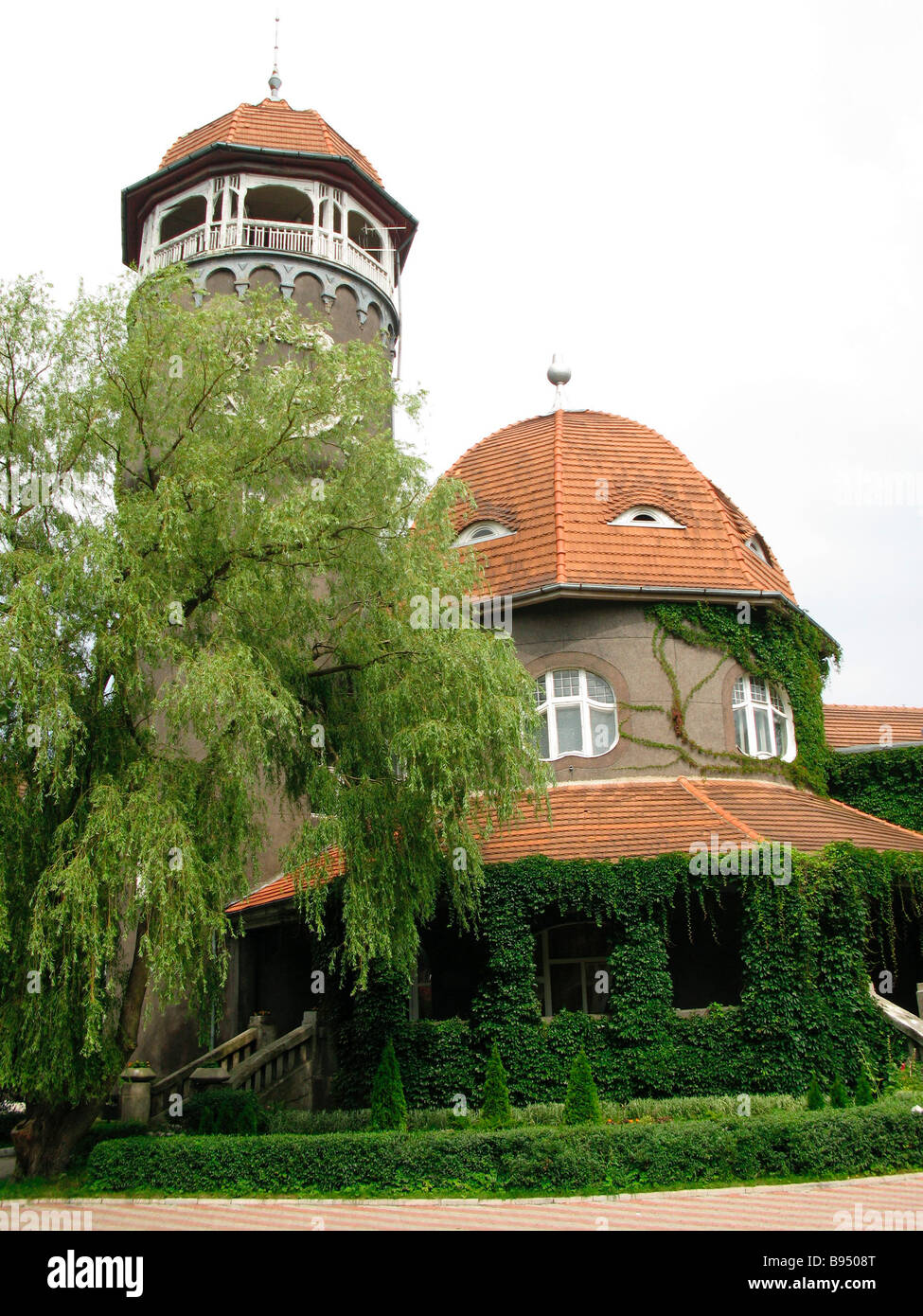 Baths tower Romanticism style was built in the town of Svetlogorsk Kaliningrad Region in 1900 1908 - Stock Image