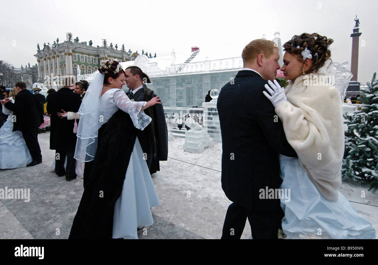 St Valentine s Day at the Ice Palace St Petersburg - Stock Image