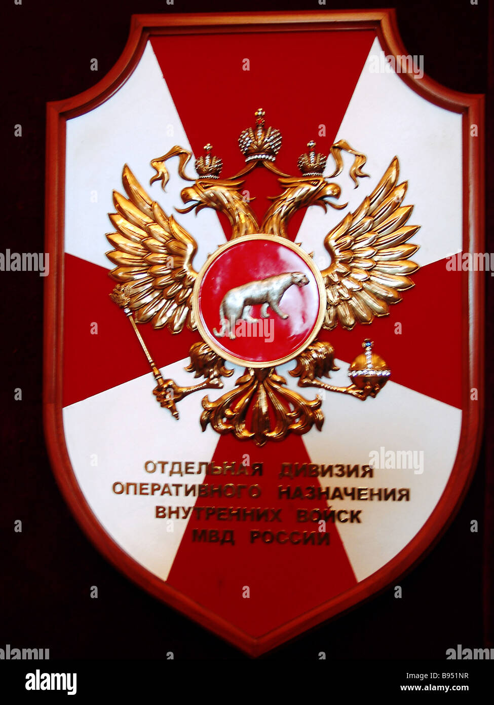 Insignia of the special tactical division of the Russian Interior Ministry troops - Stock Image