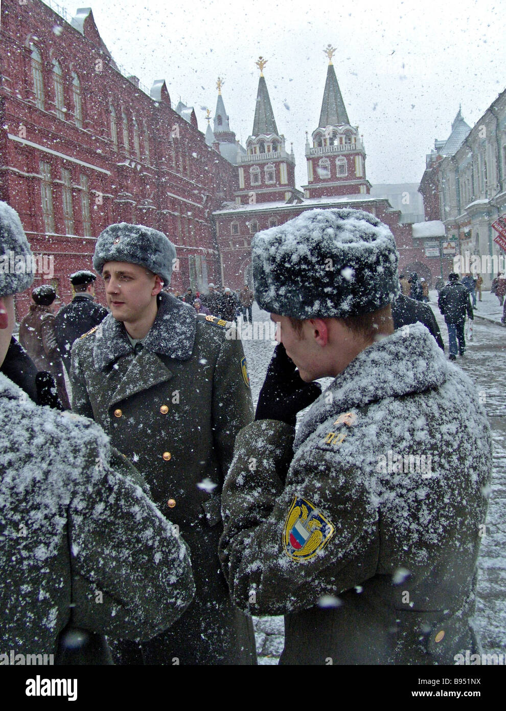 Soldiers of the Kremlin Regiment on Red Square - Stock Image