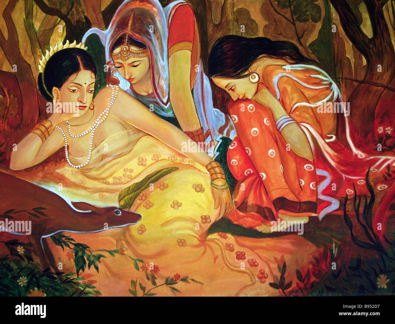 A painting by an Indian artist - Stock Image