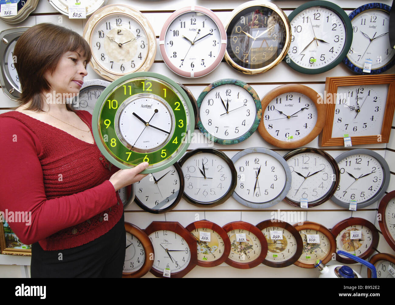 Russia passes over to Winter Time in the early hours of October 28 - Stock Image