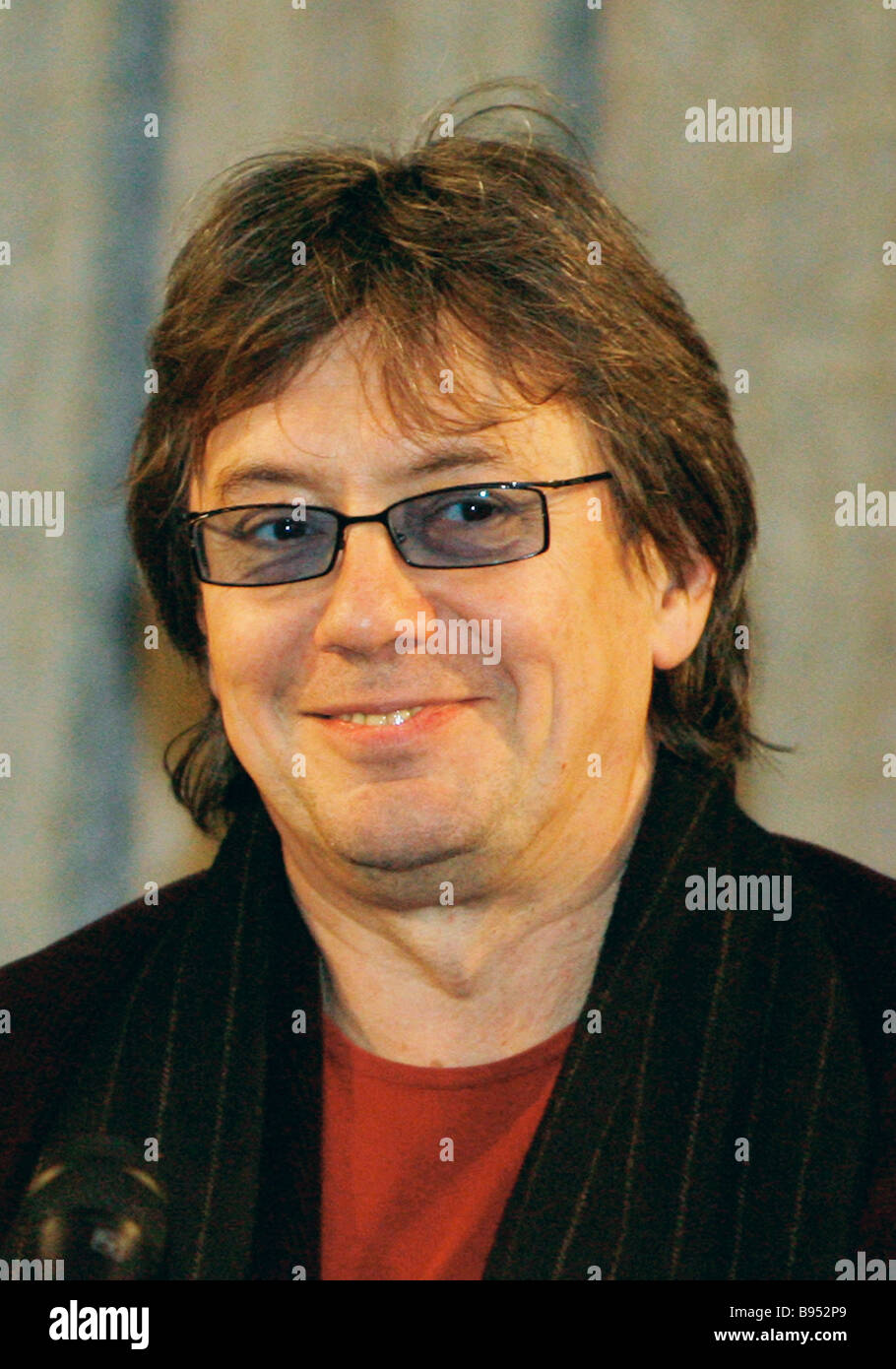 Actor Vladimir Yeremin at the presentation of the film From Nowhere with Love or The Merry Funeral Vladimir Fokin - Stock Image