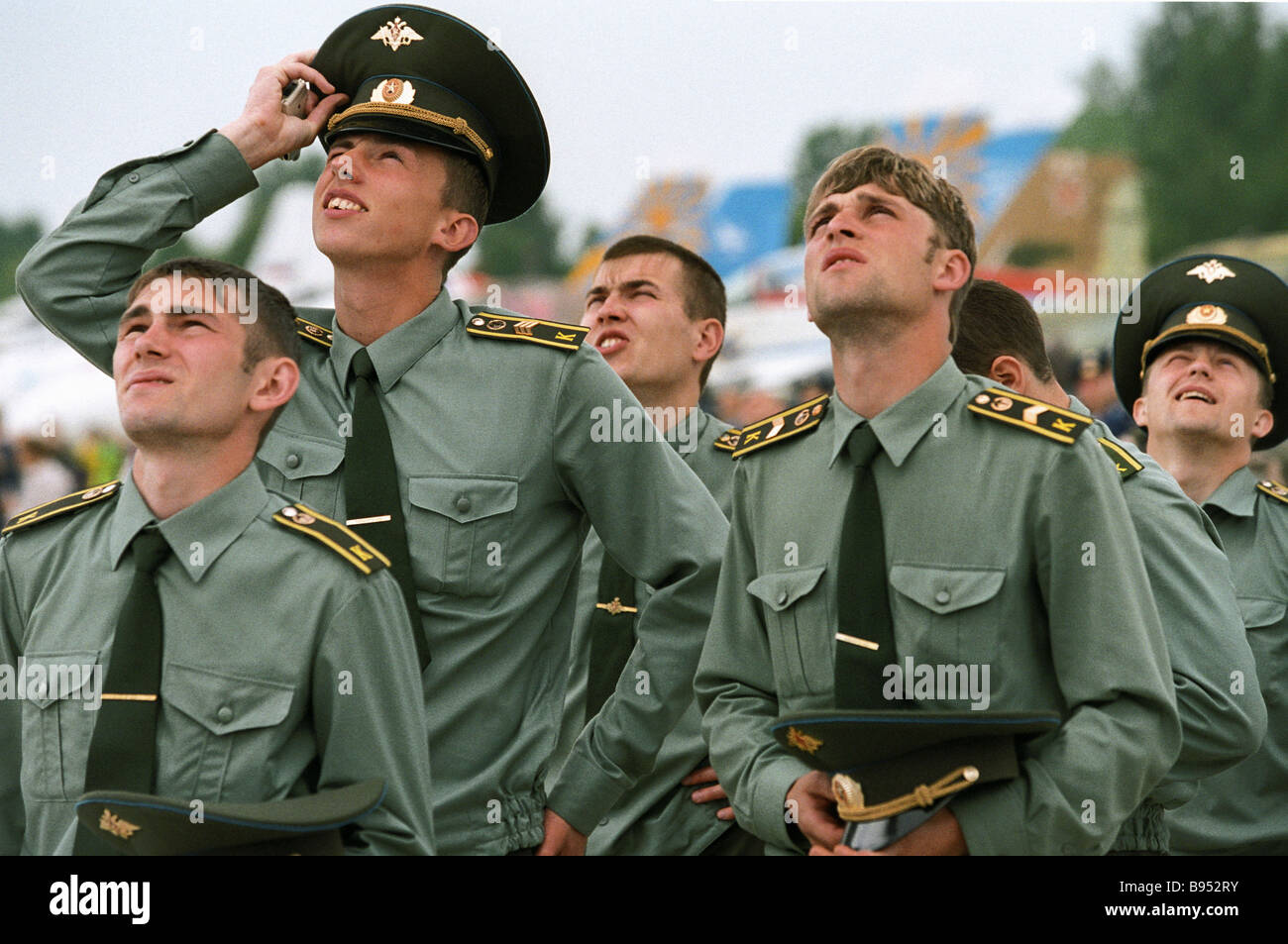 The celebrations of the 85th birth anniversary of the glorious Russian fighter pilot Ivan Kozhedub Stock Photo